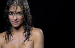 brunetki seksowny wzorcowy zdjęcie stock
