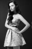 brunetki sukni mody seksowna kobieta Fotografia Royalty Free
