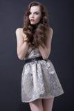 brunetki sukni mody seksowna kobieta Obrazy Stock