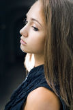 brunetki zbliżenia dziewczyny wspaniali portreta potomstwa Zdjęcia Stock