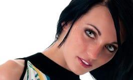 brunetki zbliżenia oczu zieleni model Fotografia Stock