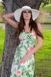 brunett Royaltyfria Bilder