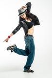 Brunett dancer. Royalty Free Stock Image