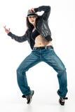 Brunett dancer. Royalty Free Stock Images