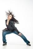Brunett dancer. Royalty Free Stock Photos