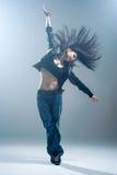 Brunett dancer. Royalty Free Stock Photography