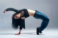 Brunett dancer. Stock Photo