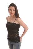 brunett lace2 Arkivfoto