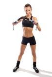 brunett som gör övningsbarn Royaltyfri Foto