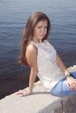 brunettbarn Fotografering för Bildbyråer