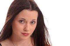 brunettclose två Fotografering för Bildbyråer