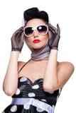 Brunette à moda Imagem de Stock