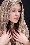 Brunette árabe atractivo Fotografía de archivo libre de regalías