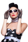 Brunette élégant Image stock