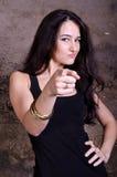 Brunette élégant beau Photo libre de droits