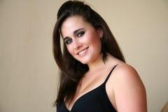 brunette ανοιχτόχρωμης επιδερμί&del στοκ εικόνα