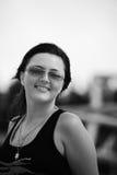 brunette ευτυχές Στοκ Φωτογραφίες