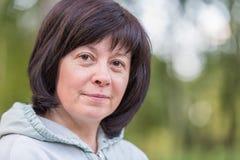 Brunette μέσης ηλικίας Στοκ εικόνα με δικαίωμα ελεύθερης χρήσης
