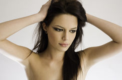 brunette ομορφιάς στοκ εικόνες