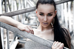brunette προκλητικό Στοκ Εικόνες