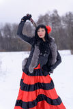 Brunette σε ένα μαύρο σακάκι Στοκ Εικόνες