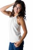 Brunette χαμόγελου Στοκ φωτογραφία με δικαίωμα ελεύθερης χρήσης