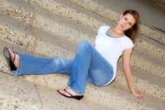 brunette χαριτωμένο Στοκ εικόνες με δικαίωμα ελεύθερης χρήσης