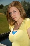 brunette χαριτωμένο Στοκ Φωτογραφία