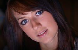 Brunette Stockbild