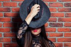 Brunette Photo libre de droits