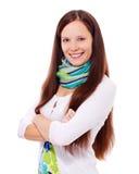 Brunette abbastanza giovane sicuro Fotografia Stock