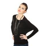 Brunette adolescente hermoso con jewelery Foto de archivo