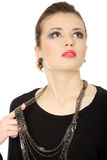 Brunette adolescente hermoso con jewelery Imagen de archivo