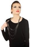 Brunette adolescente hermoso con jewelery Fotografía de archivo libre de regalías