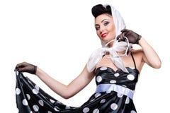 Brunette alla moda Fotografie Stock Libere da Diritti