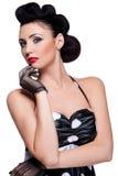 Brunette alla moda Fotografie Stock