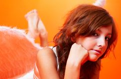 Brunette Angel Stock Photography