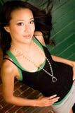 Brunette asiatico sexy fotografia stock