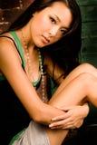 Brunette asiatico sexy fotografie stock