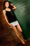 Brunette asiatique Photographie stock