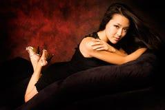 Brunette asiatique sexy photo libre de droits