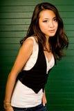 Brunette asiatique sexy Images libres de droits