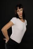 Brunette atractivo Fotografía de archivo