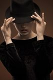 Brunette atrativo Foto de Stock
