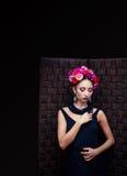 Brunette atrativo novo Imagem de Stock Royalty Free