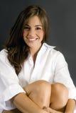 Brunette attirant Photo stock