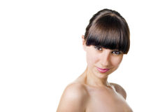Brunette attraente Immagine Stock