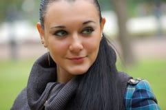 Brunette aux yeux verts Images libres de droits