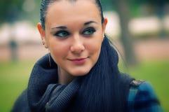Brunette aux yeux verts Photo libre de droits