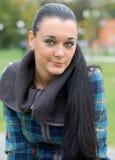 Brunette aux yeux verts Photos stock